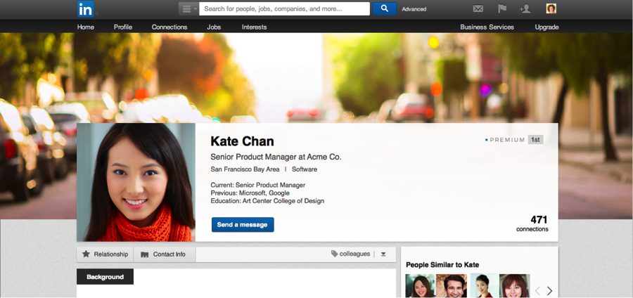 Linkedin custom profile background image feature is now available to