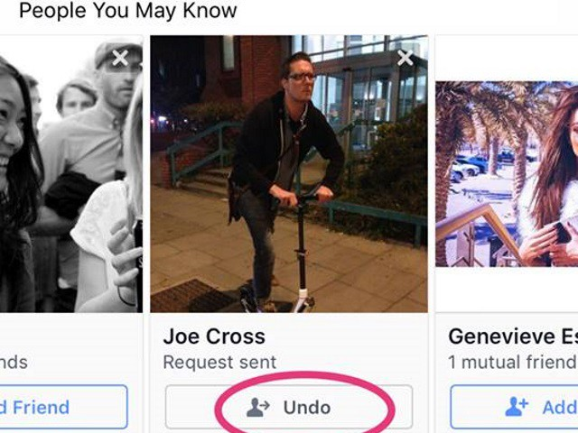 Facebook Tests Undo Button For Sent Friend Requests