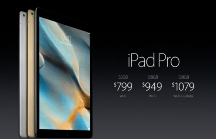 Apple iPad Pro Set to Go on Sale Tomorrow For $799