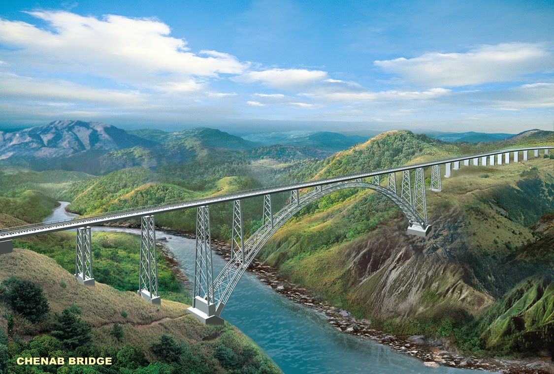 We Are Building World's Highest Rail Bridge Over River Chenab, An Indian Engineering Marvel