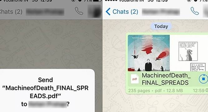 WhatsApp Gets PDF File Sharing