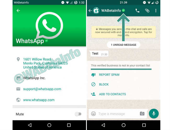 WhatsApp Verified Business Profiles
