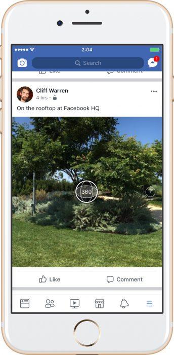 Facebook 360 photos