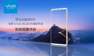 Vivo to Launch Vivo X20 on September 21