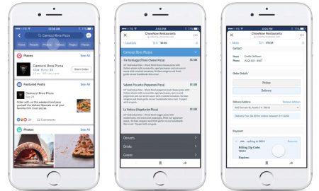 Facebook food ordering feature
