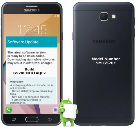 Samsung Galaxy J5 Prime Android 7.0 Nougat