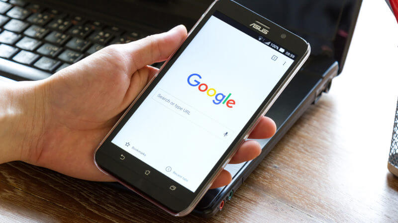 Google Curved Mobile Search Results Interface