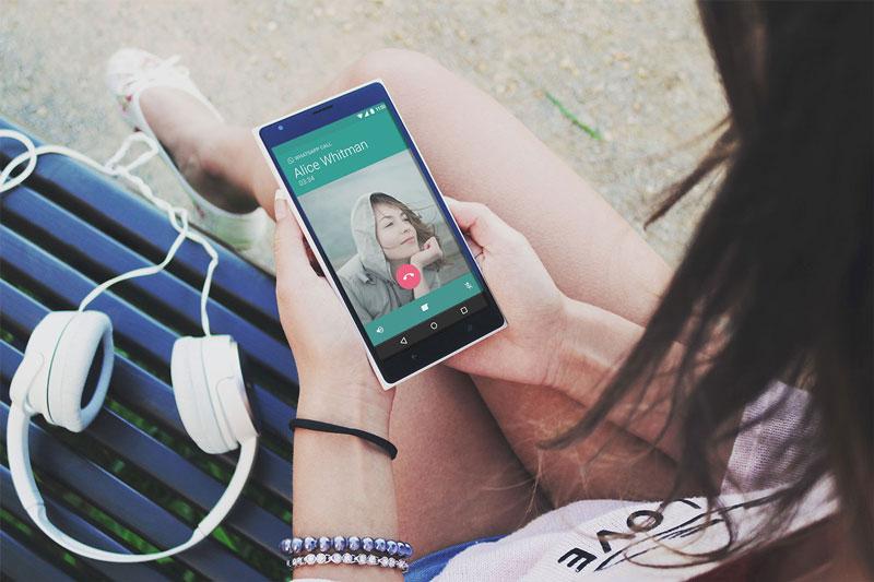 WhatsApp Testing Voice to Video Call