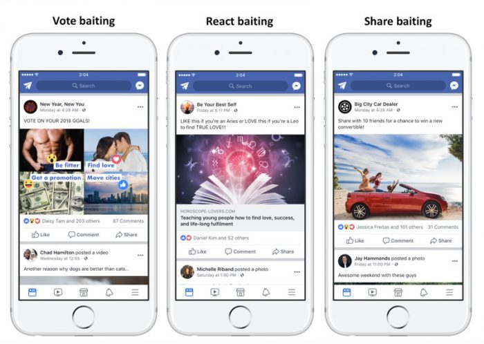 Facebook to Punish Engagament Baits