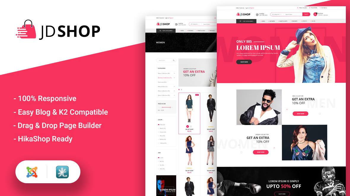 JD Shop – Best Premium Joomla 3.x Template For E-commerce