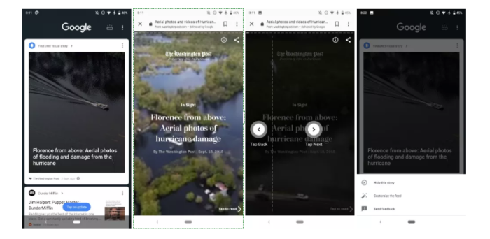 AMP Stories Start Appearing in Google Feeds