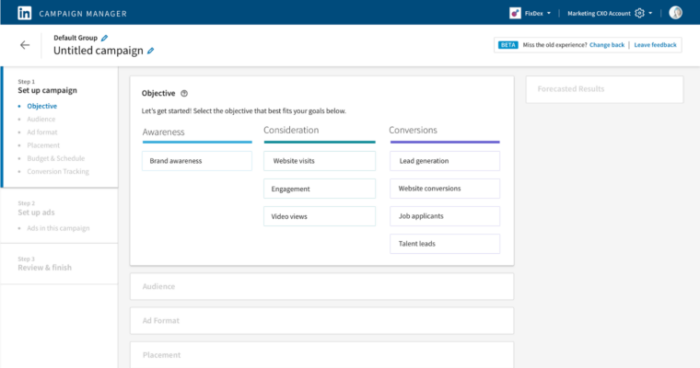 LINKEDIN CAMPAIGN MANAGER NEW FEATURES
